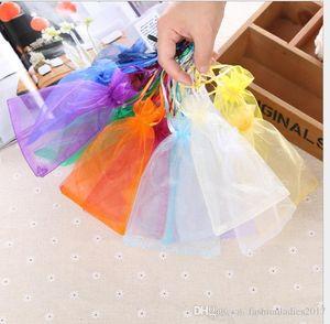 Jóias sacos de organza casamento jóias presente Xmas party bolsas de ouro, prata 18 cores com cordão 7 * 9 centímetros 9 * 12 centímetros 10 * 15 centímetros 13 * 18 centímetros 20 30 centímetros *