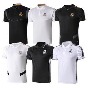 2019 Real Madrid Polo Beyaz Futbol Forması 19/20 Real Madrid TEHLİKE Siyah POLO Gömlek RAMOS MODRİK ASENSIO ISCO Futbol POLO Üniformaları