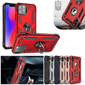 Metall-Ring-Halter Hybrid Stoß- Fall für iPhone 11 Pro Max 11 Pro XS MAX XR 6 7 8 Plus Samsung Anmerkung 10 S20 und S20 S10 A20 A30 A50 A70