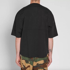 2020 New homens t camisas homens e mulheres luva Bat sobredimensionar soltas T-shirt manga gola redonda cotovelo 1618