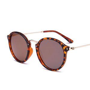 Retro Round Sunglasses Luxury Women 2019 Glasses Circle Small Sunglasses Men Shades Leopard Mirror Sun Glasses Vintage Eyewear