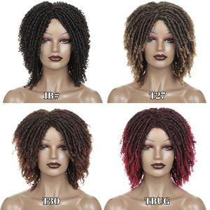 14inch breve parrucche sintetiche per le donne Dreadlocks parrucca di capelli ricci morbida Ends Faux Locs Ombre Black Bug Biondo 30 colori Crochet Trecce Parrucche