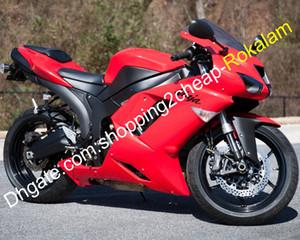 Para ZX6R Kawasaki Ninja ZX 6R 07 08 636 2007 2008 ZX6R 636 Motocicleta roja del kit del carenado del mercado de accesorios (moldeo por inyección)