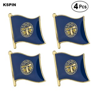 U.S.A Nebraska Flag Pin Lapel Pin Badge Brooch Icons 4PC