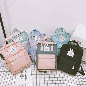 Ladies Rucksack Candy Color Waterproof School Bag Teen Girl Big Cute Laptop Backpack Patchwork Kawaii Backpack