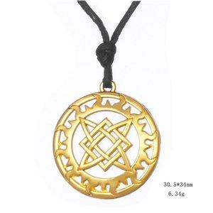 10PCS Antique Silver Vintage Ethnic Sun Talisman Necklaces Russian Square Star Pendant Slavic Choker Amulet Statement Necklace