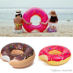 Summer Water Toy 36 inch Gigantic Donut Swimming Float Inflatable Swimming Ring Adult Pool Floats 2 Colors
