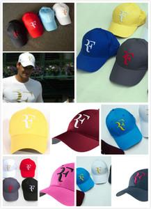 Großhandels-Federer RF Tennis Fans Baseball-Kappe Summer Cool Caps Männer Frauen Adjustable Unisex Adult Kühle Net Mützen