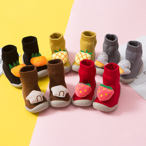 Children Ankle Sock Autumn & Winter Fruit Series Baby Toddler Shoe Anti-slip Soft Rubber Sole Men And Women Children Ankle Sock
