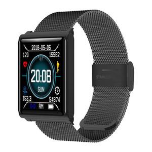 NEW N98 컬러 스마트 시계 방수 스마트 팔찌 혈압 심장 박동 팔찌 피트니스 추적기 실리카 젤 스마트 시계 GT08 XCTN8