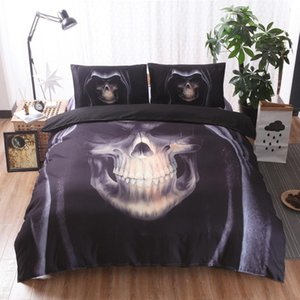 3d Skull Bedding Set Cover Comforter Duvets Bed Sets Horror Couples Sugar Single Twin Full Queen Kings Sizes Pillow NO Sheets