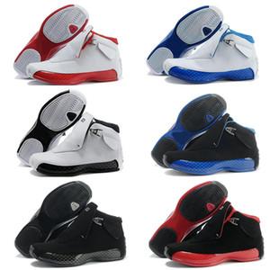 siyah ve mavi Atletizm Spor Sneaker SICAK yeni 2019 Ucuz 18 XVIII 18s Spor Kırmızı Siyah Mavi Kraliyet Erkek Basketbol Ayakkabı nesil