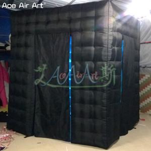 Bespoke portato cubo tenda gonfiabile photo booth fondale, Photo Station festa, stand sociale con illuminato luci in sconto