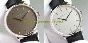 2 цвета часы для худых мужчин Саксонии часы мужские ручной подзавод механизм Miyota 9015 мужской кожаный ремень механизм свободного покроя наручные часы