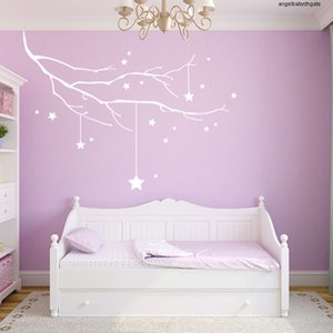 Room Hot Sale Stars Branch Wall Stickers Windows Living Room Art Decal Home Decor Diy Christmas Decoration Merry Christmas Tree Ornaments