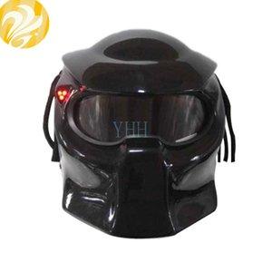 Personalized Helmet Halloween Motorcycle Capacete Street Helmet Motorcycle Iron Man Full Mask Racing Black Protect Gloss Black