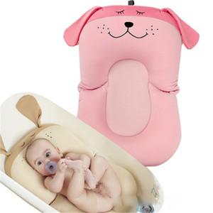 Bebé de ducha portátil cojín de aire bebés cama para bebé baño del bebé del cojín antideslizante de la bañera Mat recién nacido Caja de seguridad Bañera asiento de soporte FJ473