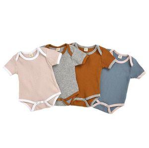 Kinder Kleidung Baby Solide Strampler Kleinkind Sommer Artikel Pit Jumpsuit Jungen Gilrs Kurze Ärmel Body Infant Baby Designer Kleidung PY462