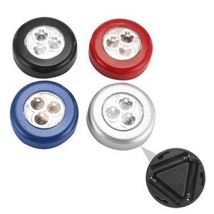 3LEDs Closet Cabinet Light Touch Sensor de luz Led Night Light Cozinha Quarto Armário magnético sem fio Corredor Escada Lâmpadas