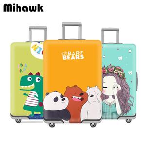 Mihawk Sevimli Elastik Bagaj Kapağı Karikatür Arabası Bavul Öğrenci Kid 18-32 İnç Vaka Seyahat Aksesuarları CJ191219 İçin Toz Bag koruyun