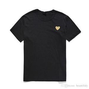 Moda Mens progettista magliette giocano Commes cotone OFF Camicie cuore rosso des garcons bianchi uomo T-shirt estate delle donne abbigliamento T casuali
