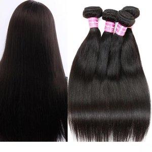 H 2018 New Bemiss Peruvian Straight Extensions 4 5 Bundles 100 %Unprocessed Brazilian Malaysian Indian Virgin Human Hair Wefts Natural