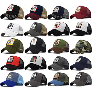 Tier Stickerei Kappen Für Erwachsene Mens Womens Sommer Trucker Hut Hysteresen Hip Hop Baseball Ball Cap Designer Sonnenblende Party Hüte HH9-2230