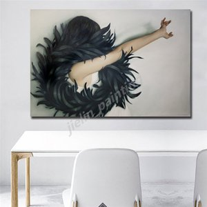 British Artist Amy Judd Who Has A Passion For Feathers Poster Painting On Canvas Bedroom Wall Art Decoration Pictures Home Decor
