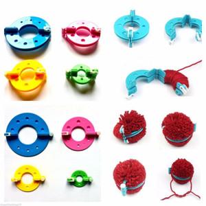 8 Adet 4 Boyutları Yün top Maker Örme Araçlar İplik Pompon Yün Peluş Topu Seti Fluff Weaver Üretim Araçları Ponponlar