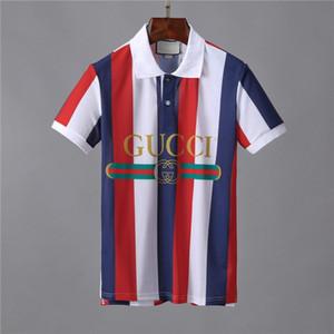 Nueva Luxursy Marcas bordado camisetas para los hombres Italia manera de la camisa poloshirt los hombres de alta calle serpiente tigre pequeña abeja para hombre de impresión camisa de polo