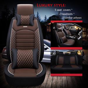 2019 الجديد PU الجلود مقعد سيارة يغطي جميع يونيفرسال الحجم يغطي سيارات كيا لكزس BMW تويوتا هيونداي للماء التصميم السيارات