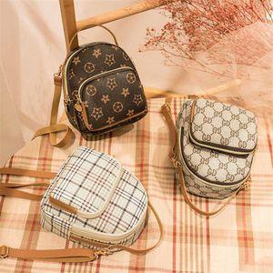 Fashion Star Imprimer Sac À Dos Rétro Designer Personnalité Plaid Motif Sac Pour Femmes Casual Sac À Dos Mini Sac Tote Bag Sacs À Bandoulière