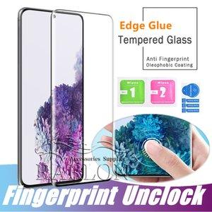 3D Kavisli Vaka Dostu temperli cam Ekran Koruyucu için Samsung Galaxy S20 Ultra S10 Artı S9 s8 Not 10Plus 9 LG G8 Huawei Mate 30 Pro
