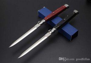 Buena calidad 13 pulgadas italiana AB cuchillo plegable táctico mafia estilete horizontal de la lámina 440C de la caza que acampa automático Cuchillos C81 C85 EDC Demasiado