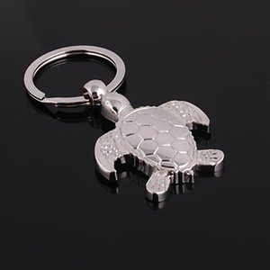 New Caming Silver Plated Turtle Tortoise Keychains Ring Animal Alloy Keychain Women Keyring Bag Car Charm Pendant Jewelry Free Shipping
