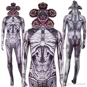 Things Demogorgon Catsuit Costumes Dress Digital Printed Long Sleeved Costumes Movie Stars Cosplay Halloween Party Strange