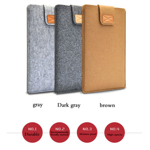 13 15 17 inch Wool Felt Inner Notebook Laptop Sleeve Bag Case Cover Carrying Handle Bag For Macbook Air Pro Retina