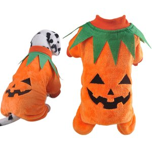 2019 New Halloween Pet Costume Creative Cute Pumpkin Pet Apparel Dog Costume Dog Clothes Novelty Funny Party Cosplay Apparel