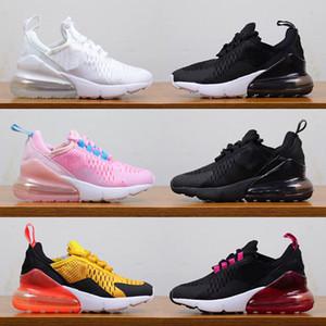 Nike Air Max 270 Hava Yastığı çocuk ayakkabı tasarımcısı çocuk erkek kız eğitmenler sneakers Tiger Sıcak Yumruk Pembe NIK Üçlü Siyah Beyaz çocuk koşu ayakkabı 28-35