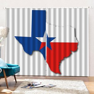 Photo customize size 3d curtains Living room bedroom With Hooks Bathroom Flag Red Blue Star blackout curtains