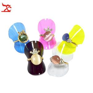 Orecchini frame Jewelry Display 38 millimetri anello di plastica pezzo multicolore anello visualizzare orecchini scheda scheda video all'ingrosso 100pcs / lots