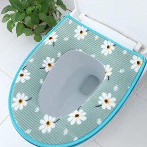 Toilet Seat Cover Comfortable Soft Toilet Seats Pad Bathroom Accessories Thicken Warmer Zipper Washable Toilet Cover