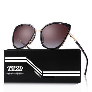 20 20 Brand Vintage Polarized Cat Eye Sunglasses Women Gold Ball Accessories Sun Glasses Shades Female Eyewear Oculos MD1869