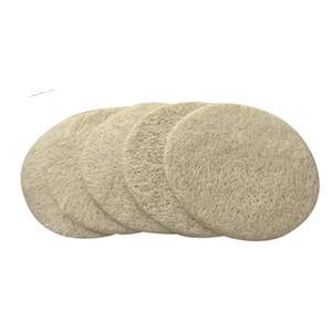 6CM Natural Loofah Pad viso Loofah Disco trucco Rimuovere Forma Esfoliante Viso rilievo rotondo di piccola dimensione Luffa Loofah