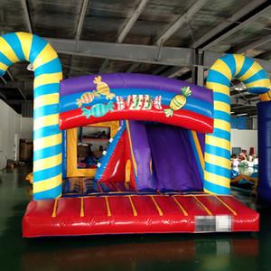 Tema doces inflável do salto Castelos com Slide para venda comercial inflável Casa Bounce Crianças barata Bouncers
