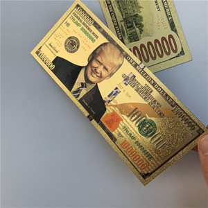 2020 Donald Trump Dollar US President Banknote Gold Foil Bills Coin Crafts America General Election Supply15.3*6.5cm Kids Gifts Toys E3408