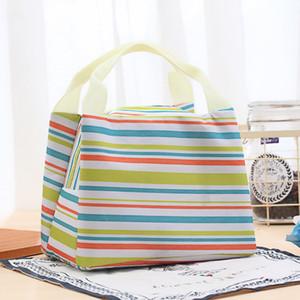 Renkli Şerit öğle çanta İzotermik Çanta Buz Piknik Çanta çanta 5 stilleri opsiyonel Ücretsiz kargo taşıyan Paketleri