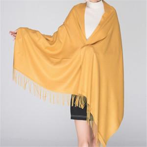 Llanura de gran tamaño 6colors Nueva manta diseñador de las mujeres del abrigo de cachemira mantón de la bufanda de Pashmina Para 2017 Fall