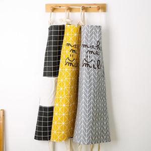 Senyue Hot Fashion Lady Women Men Ajustable Cotton Linen Delantal de cocina de alto grado para cocinar Hornear Restaurante Pinafore