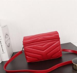 2020 أعلى جلد الغنم كتف فاخر V صغير الشكل مصمم حقائب اليد سيدة حقيبة الكتف رفرف سلسلة حقيبة رسول حقائب محفظة فتاة